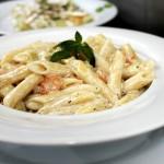 Penne con Gamberetti e Zucchini